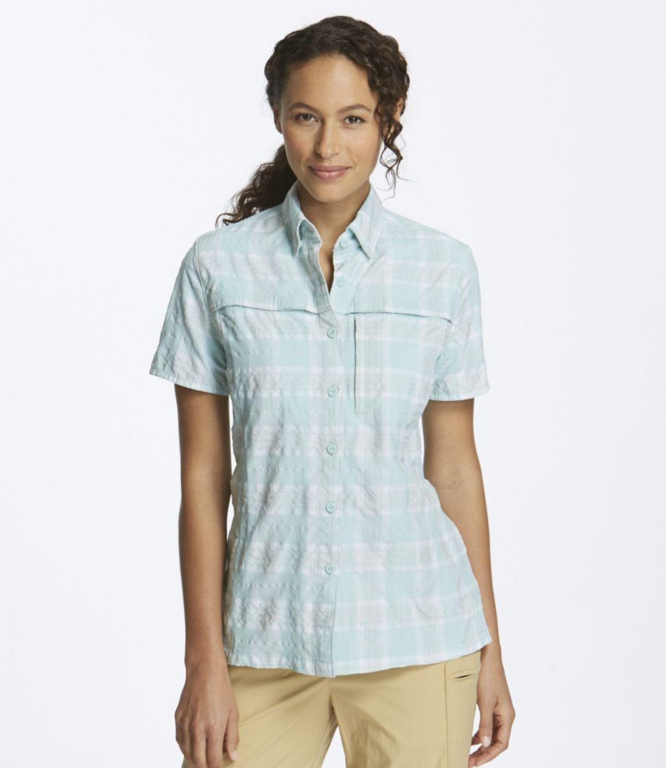 Misses' Tropicwear Shirt, Plaid Short-Sleeve