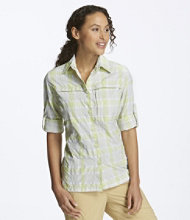 Misses' Tropicwear Shirt, Plaid Long-Sleeve