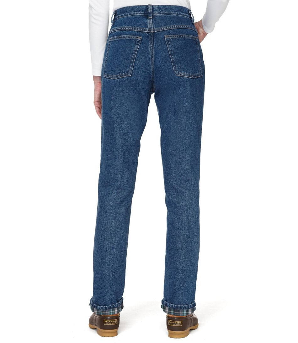 Double L® Jeans, Relaxed Fit Flannel-Lined