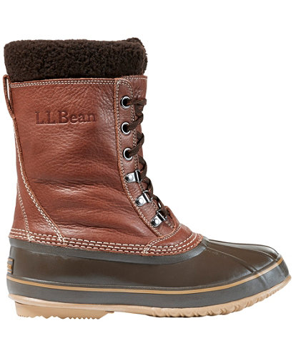 Men S L L Bean Snow Boots With Tumbled Leather