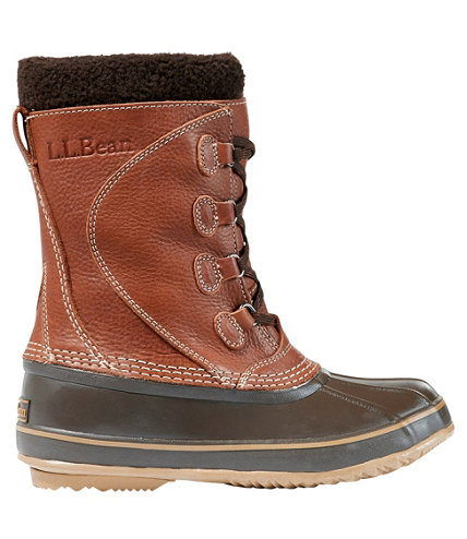 Women S L L Bean Snow Boots With Tumbled Leather