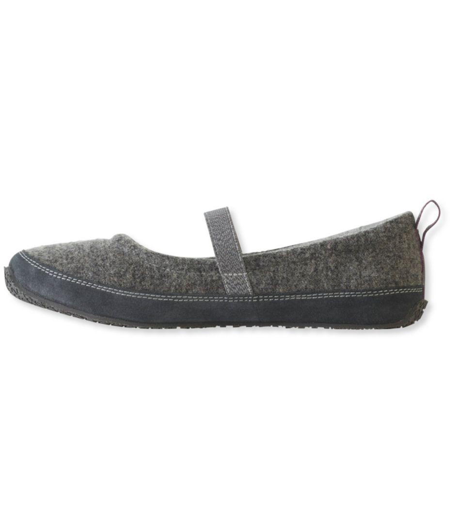 Women's L.L.Bean Wool Slippers, Mary Jane