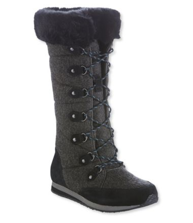 Carrabassett Wool Snow Boots, Tall