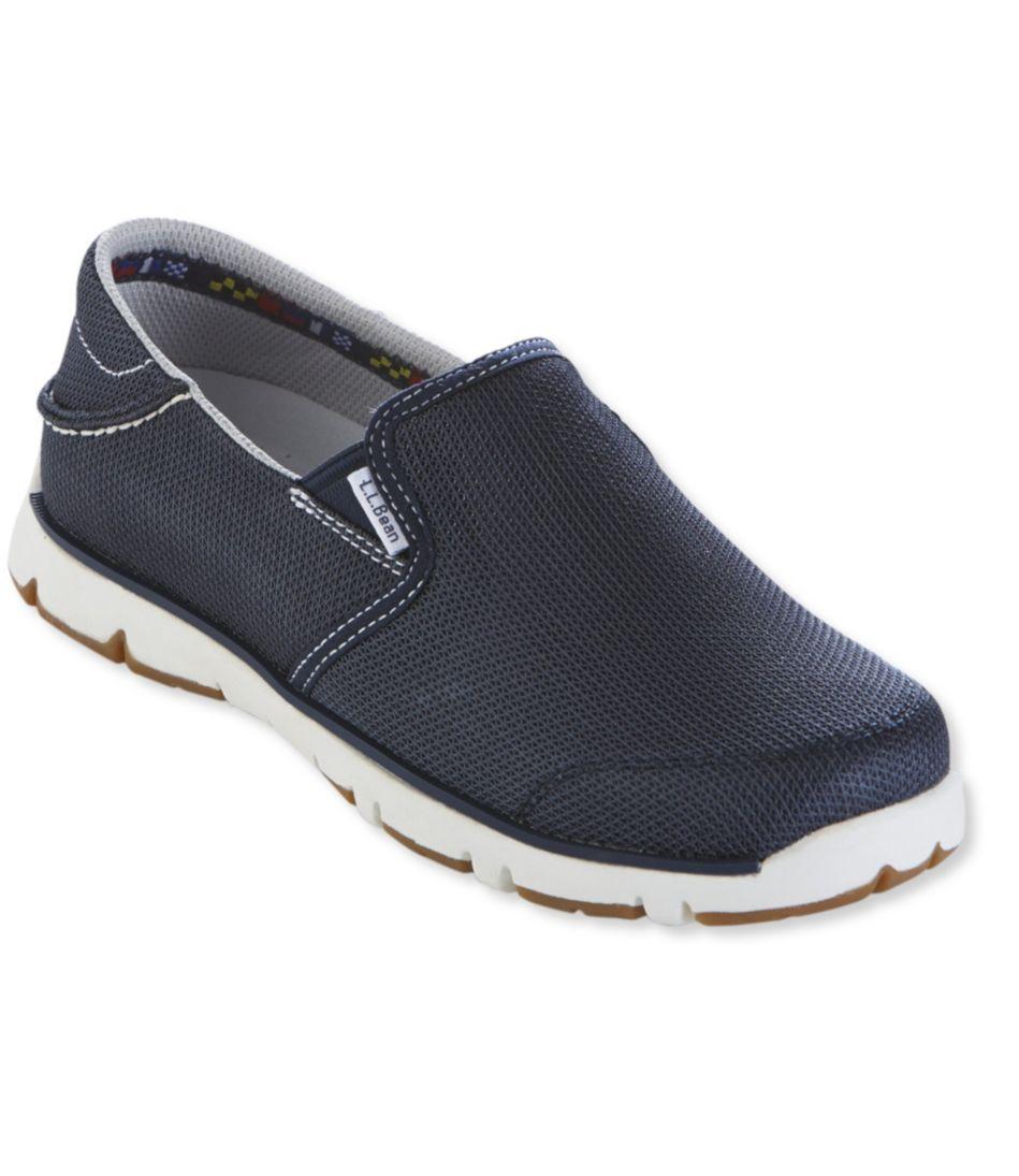 Portlander Free-Flex Boat Shoes, Mesh Slip-On