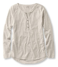 Heathered Cotton/Modal Henley, Microstripe