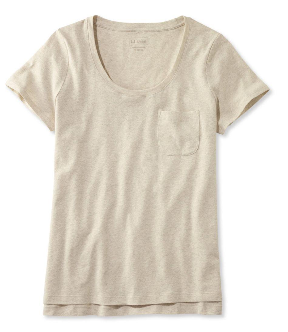 Linen/Cotton One Pocket Tee
