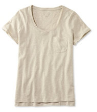 Linen/Cotton One Pocket Tee