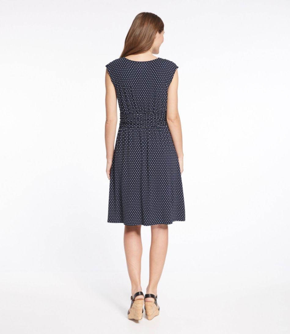 Cinched-Waist Knit Dress, Dot