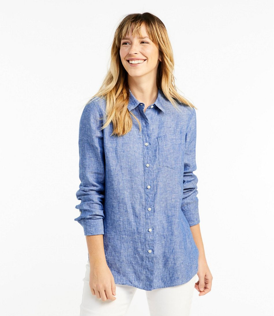 6005a833 Women's Premium Washable Linen Shirt, Tunic