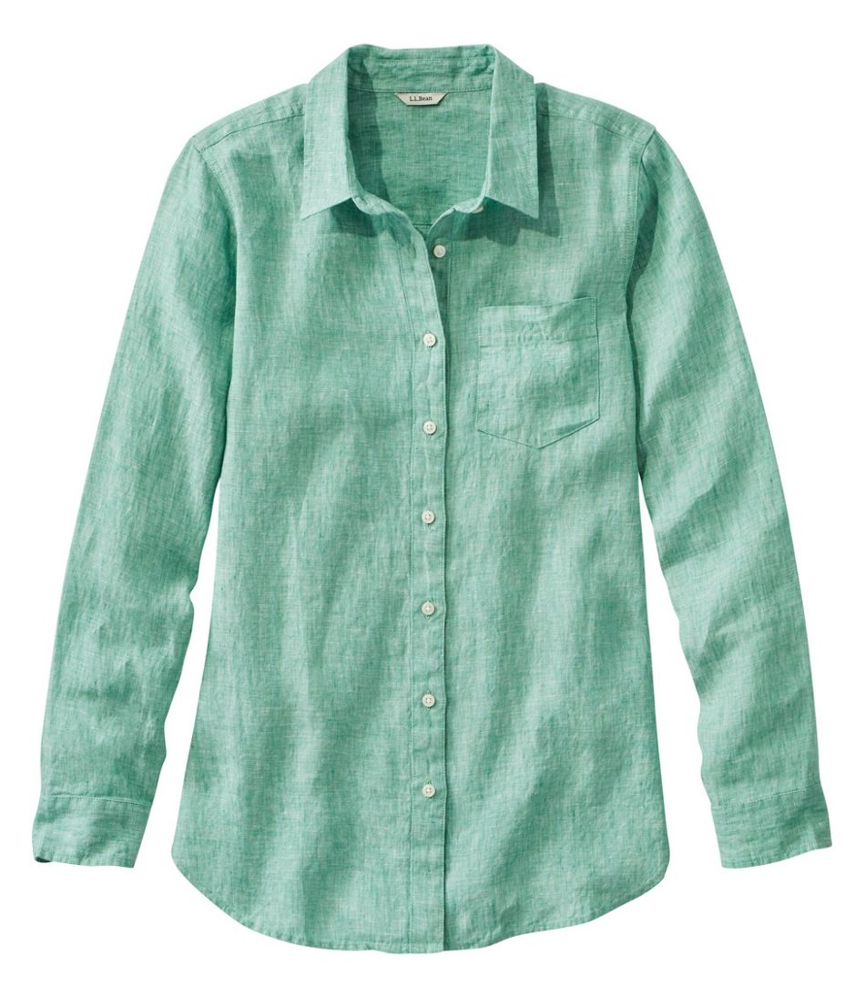 Women's Premium Washable Linen Shirt, Tunic