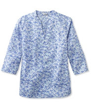 Poplin Harbor Popover, Three-Quarter-Sleeve Floral