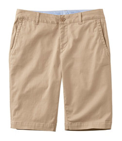 Women's Washed Chino Bermuda Shorts