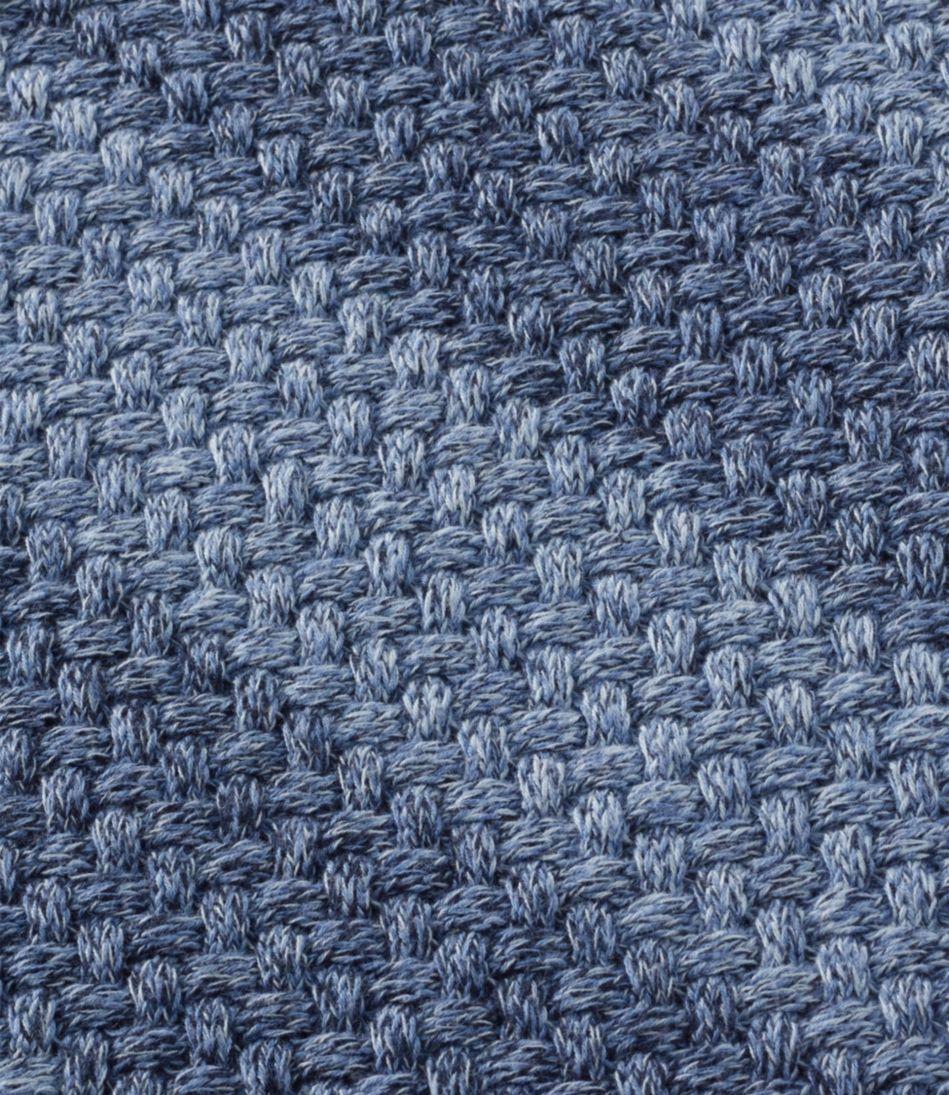 Cotton Basket-Weave Sweater, Boatneck Pullover Stripe