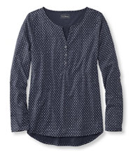 Heathered Cotton/Modal Henley, Print