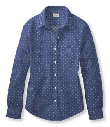 Wrinkle-Free Pinpoint Oxford Shirt, Long-Sleeve Relaxed Fit Dot