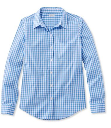 Wrinkle-Free Pinpoint Oxford Shirt, Long-Sleeve Relaxed Fit Gingham