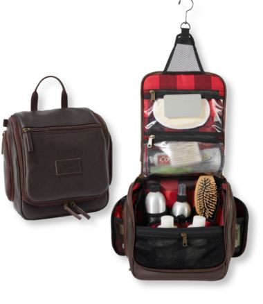 Personal Organizer Toiletry Bag, Medium Leather