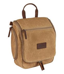 Waxed-Canvas Personal Organizer Toiletry Bag, Medium