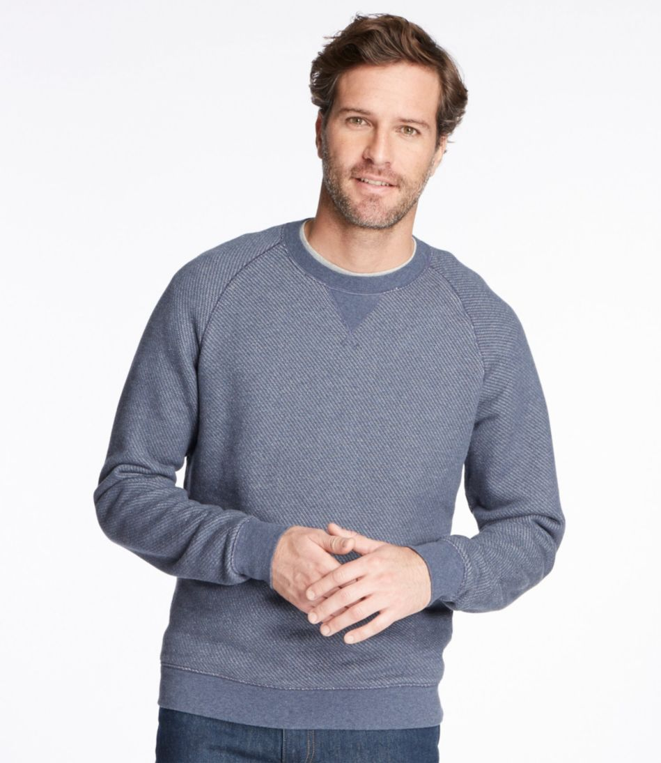 Textured Cotton/Wool Pullover, Slightly Fitted