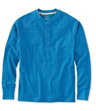 Unshrinkable Waffle Shirt, Slightly Fitted Long-Sleeve Henley