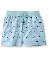 Cotton Poplin Sleep Shorts, Print