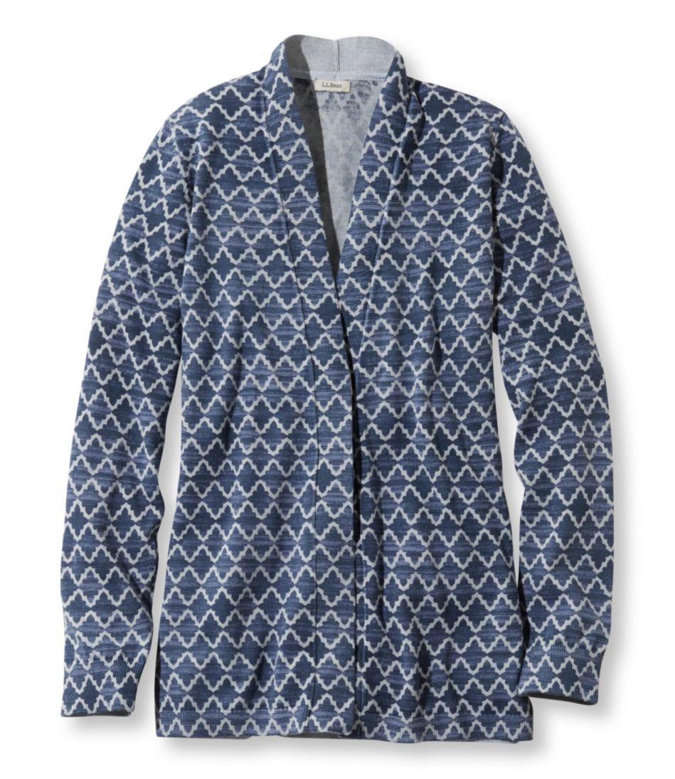 Premium Supima Cotton Sweater, Open Cardigan Print