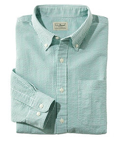 Seersucker Shirt, Long-Sleeve Gingham