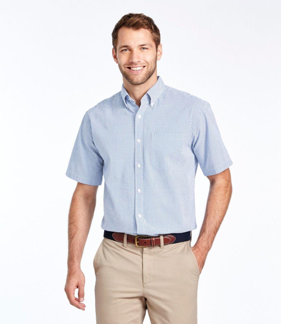 Seersucker Shirt, Traditional Fit Short-Sleeve Gingham