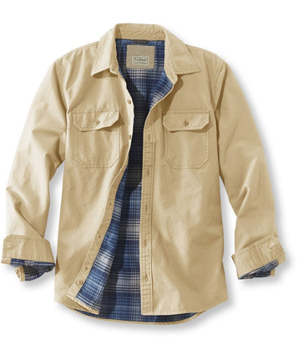 Men&39s Flannel-Lined Allagash Shirt Jacket Slightly Fitted | Free