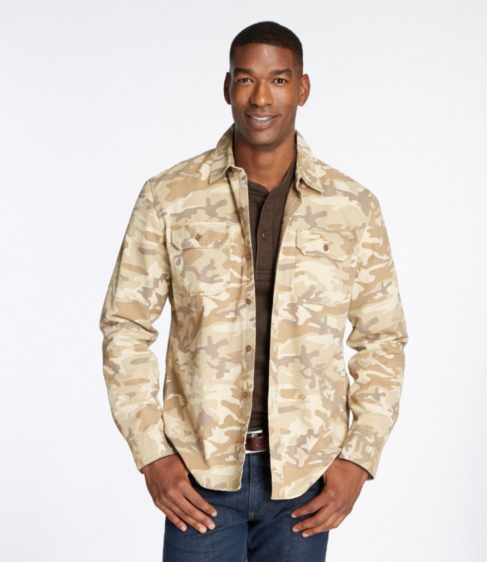 Flannel-Lined Allagash Shirt Jacket, Slightly Fitted Camouflage