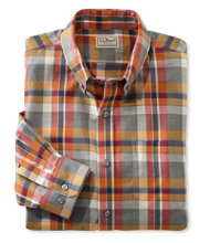 Men's Wrinkle-Free Heathered Sport Shirt, Plaid