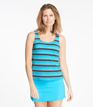 Women's BeanSport Swimwear, Scoopneck Tankini Top Stripe