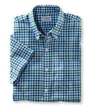 Men's Wrinkle-Free Kennebunk Sport Shirt, Slightly Fitted Short-Sleeve Check