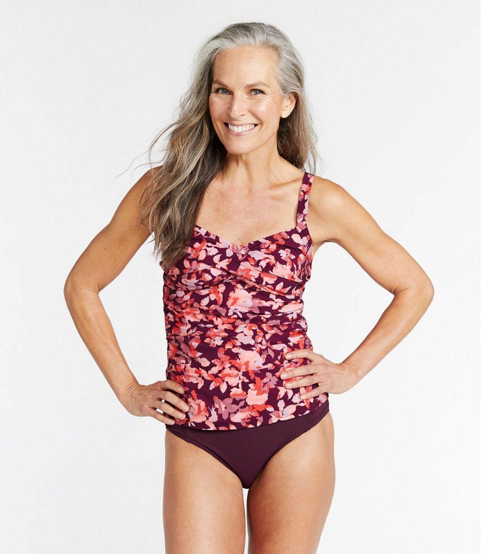 Women's Slimming Swimwear, Tankini Top Print
