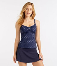 L.L.Bean Mix-and-Match Swim Collection, Sweetheart Tankini Top Dot