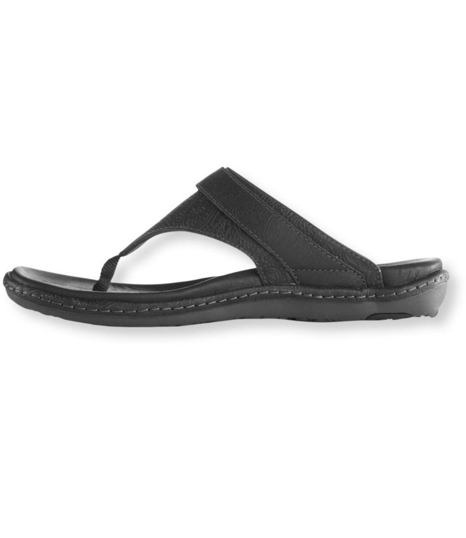Latitude Leather Sandals, Embossed