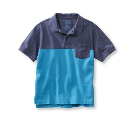 L.L.Bean Boys Double L Colorblock Shirt (Green or Blue)