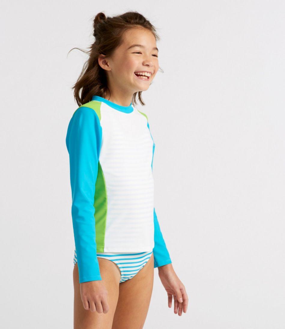 Girls' Sun-and-Surf Shirt, Long-Sleeve Colorblock