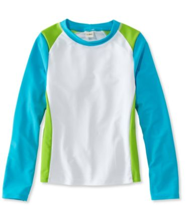 Girls' Sun-and-Surf Shirt, Long-Sleeve Colorblock