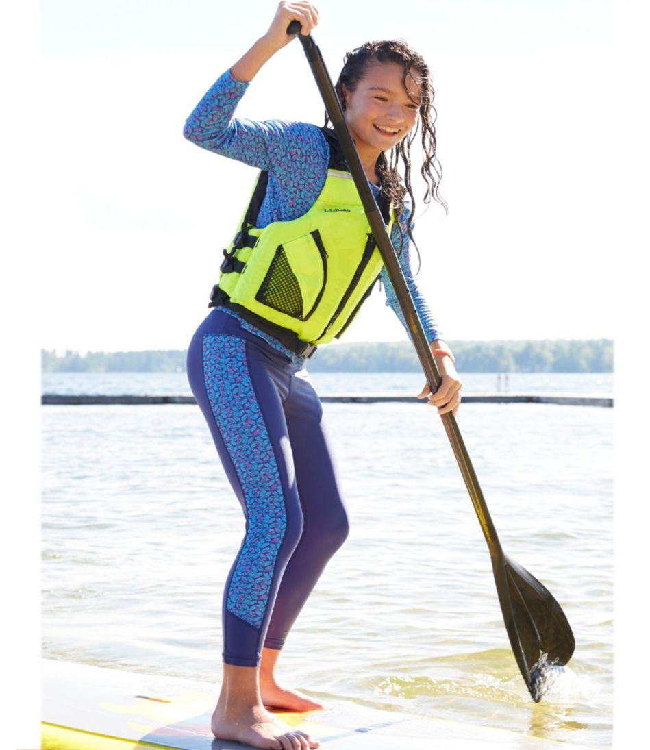 Girls' Sun-and-Surf Swim Tights, Print
