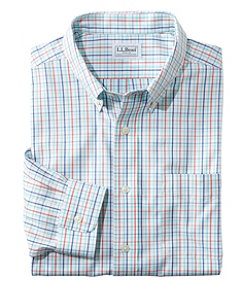 Wrinkle-Free Pinpoint Oxford Shirt, Slightly Fitted Tattersall