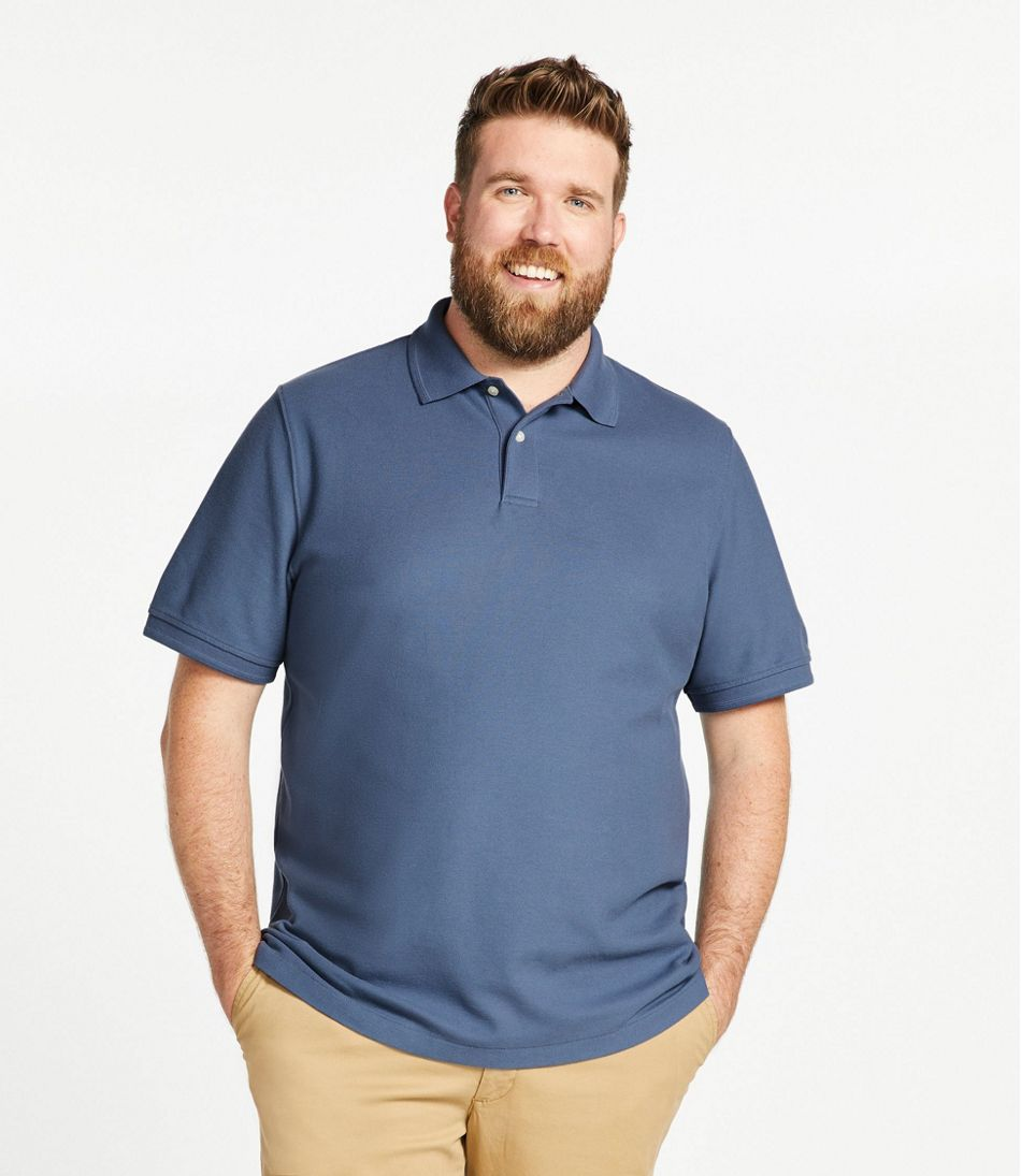 Men's Premium Double L® Polo Banded, Short-Sleeve Without Pocket