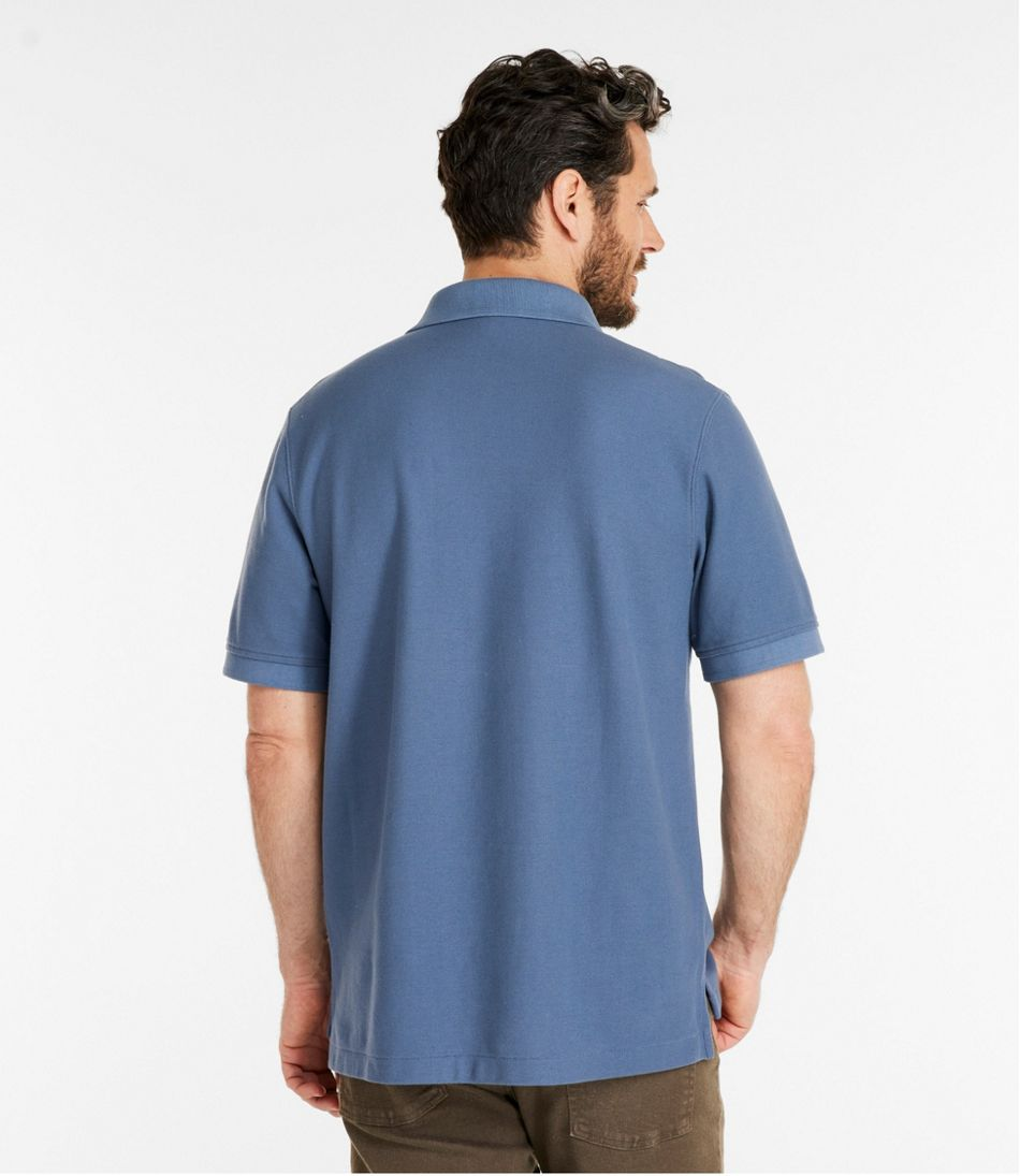 Men's Premium Double L® Polo, Short-Sleeve Without Pocket, Traditional Fit
