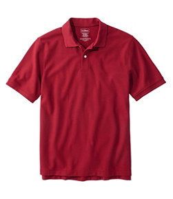 Men's Premium Double L Polo, Short-Sleeve Without Pocket, Traditional Fit
