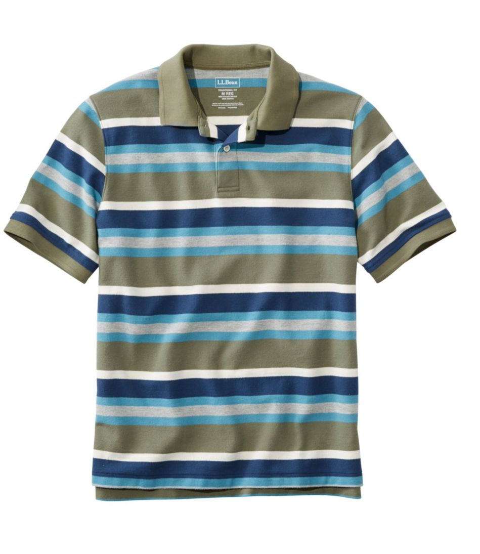 Premium Double L® Polo, Banded Short-Sleeve Without Pocket Stripe