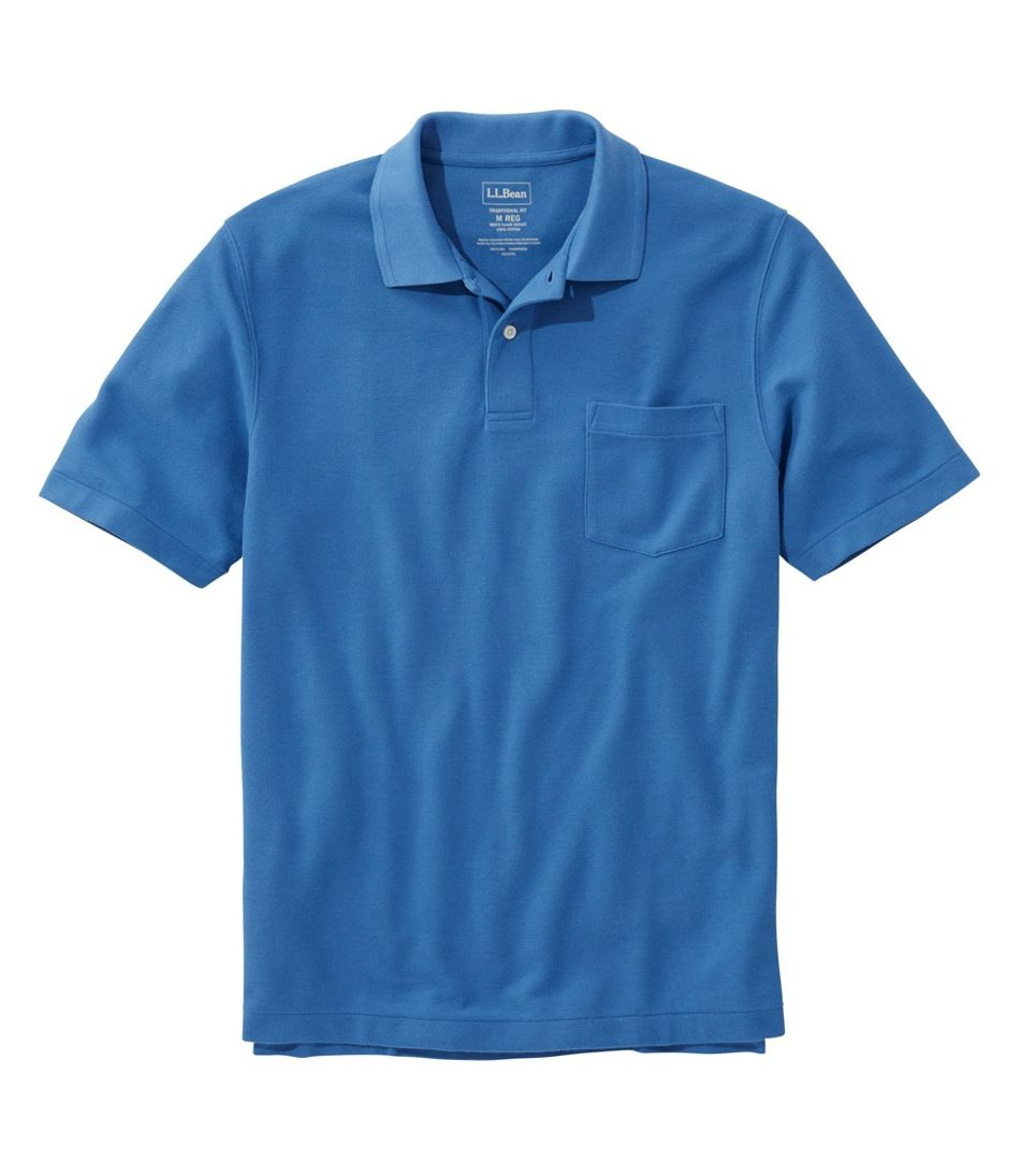 Men's Premium Double L® Polo, Hemmed Short-Sleeve with Pocket