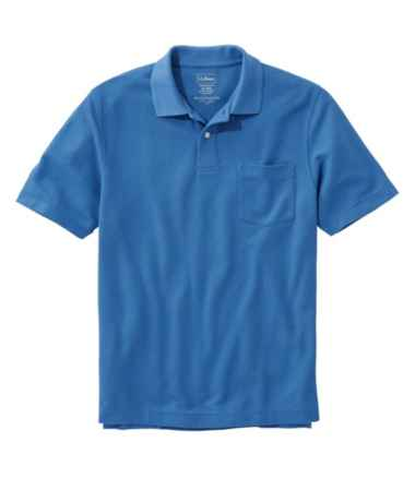 Men's Premium Double L® Polo, Hemmed Short-Sleeve with Pocket