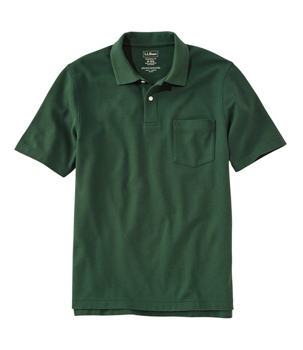 Men's Premium Double L Hemmed-Sleeve Polo with Pocket, Camp Green, large image number 0