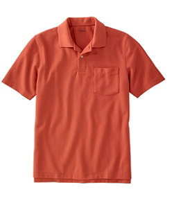 Men's Premium Double L Polo, Hemmed Short-Sleeve with Pocket