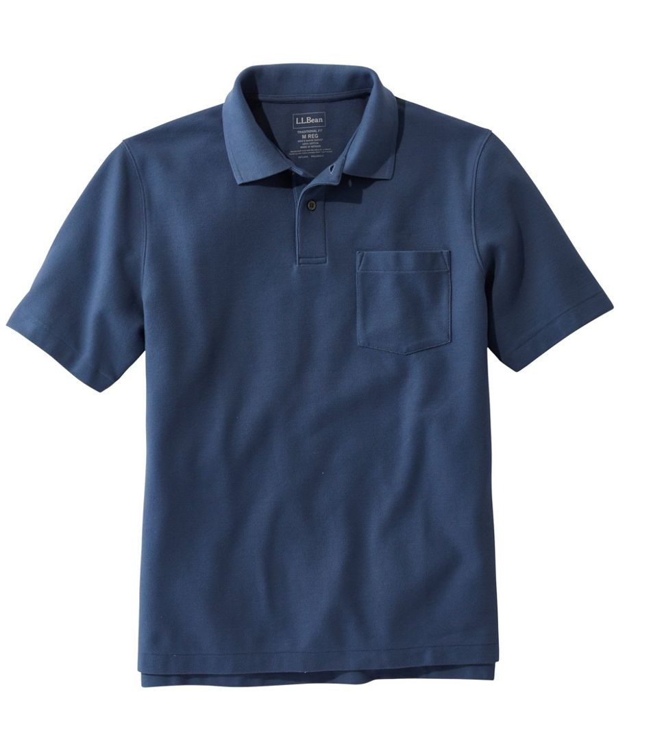 Premium Double L® Polo, Hemmed Short-Sleeve with Pocket
